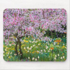 Springtime in Claude Monet's garden Mouse Pad