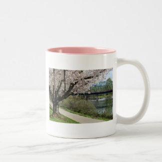 Springtime in Eugene Two-Tone Coffee Mug