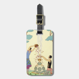 Springtime in France Art Deco Luggage Tag