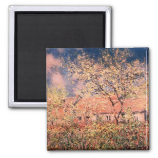 Springtime in Giverny by Claude Monet Magnet