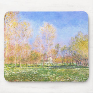 Springtime in Giverny by Claude Monet Mouse Pad