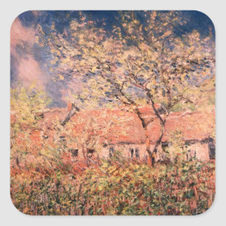 Springtime in Giverny by Claude Monet Sticker