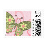 Springtime in Green and Pink Stamps