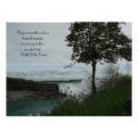 Springtime in Niagara Falls-Canada/with Quote Posters