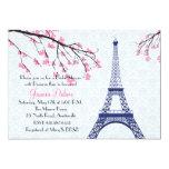 "Springtime in Paris Bridal Shower Invitation 5"" X 7"" Invitation Card"