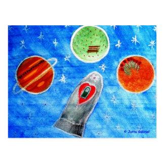 ...Springtime In Space...art by Jutta Gabriel... Postcard