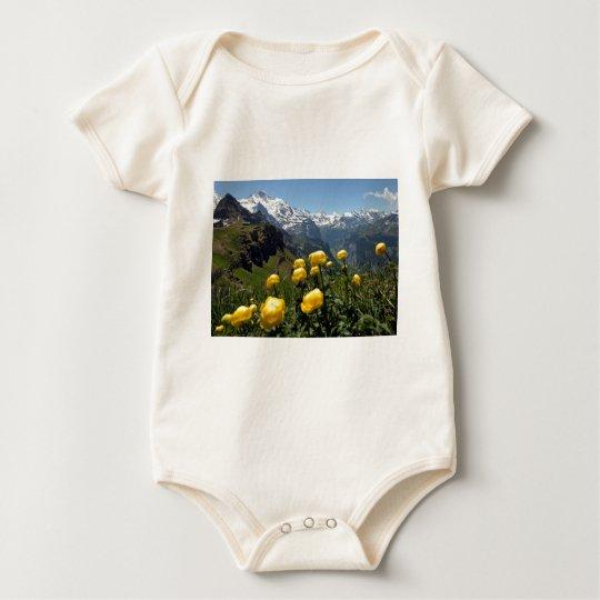 Springtime in the alps baby bodysuit