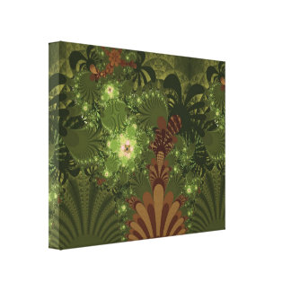 Springtime in the Jungle Wrapped Canvas Gallery Wrapped Canvas