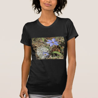 Springtime in the Mountains Purple Iris Flowers T-Shirt