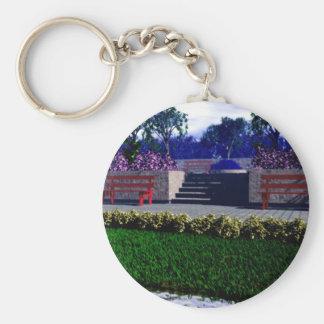 Springtime in the Park Keychain