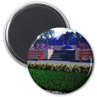 Springtime in the Park 2 Inch Round Magnet