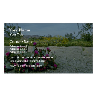Springtime in the Sonoran Desert Pink flowers Double-Sided Standard Business Cards (Pack Of 100)