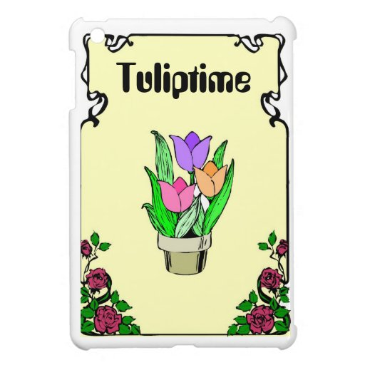 Springtime is tuliptime iPad mini case