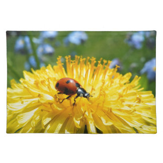 Springtime Ladybird on Dandelion Placemat