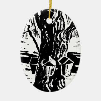 Springtime Magic - Making Maple Syrup Ceramic Ornament