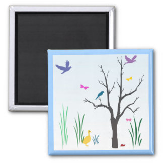 Springtime 2 Inch Square Magnet