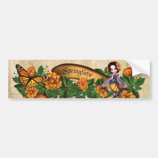 Springtime Orange Blossoms Fairy Bumper Sticker