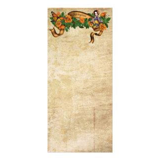 Springtime Orange Blossoms Fairy Customized Rack Card