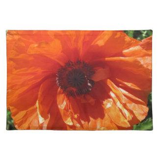 Springtime Orange Poppy Place Mats