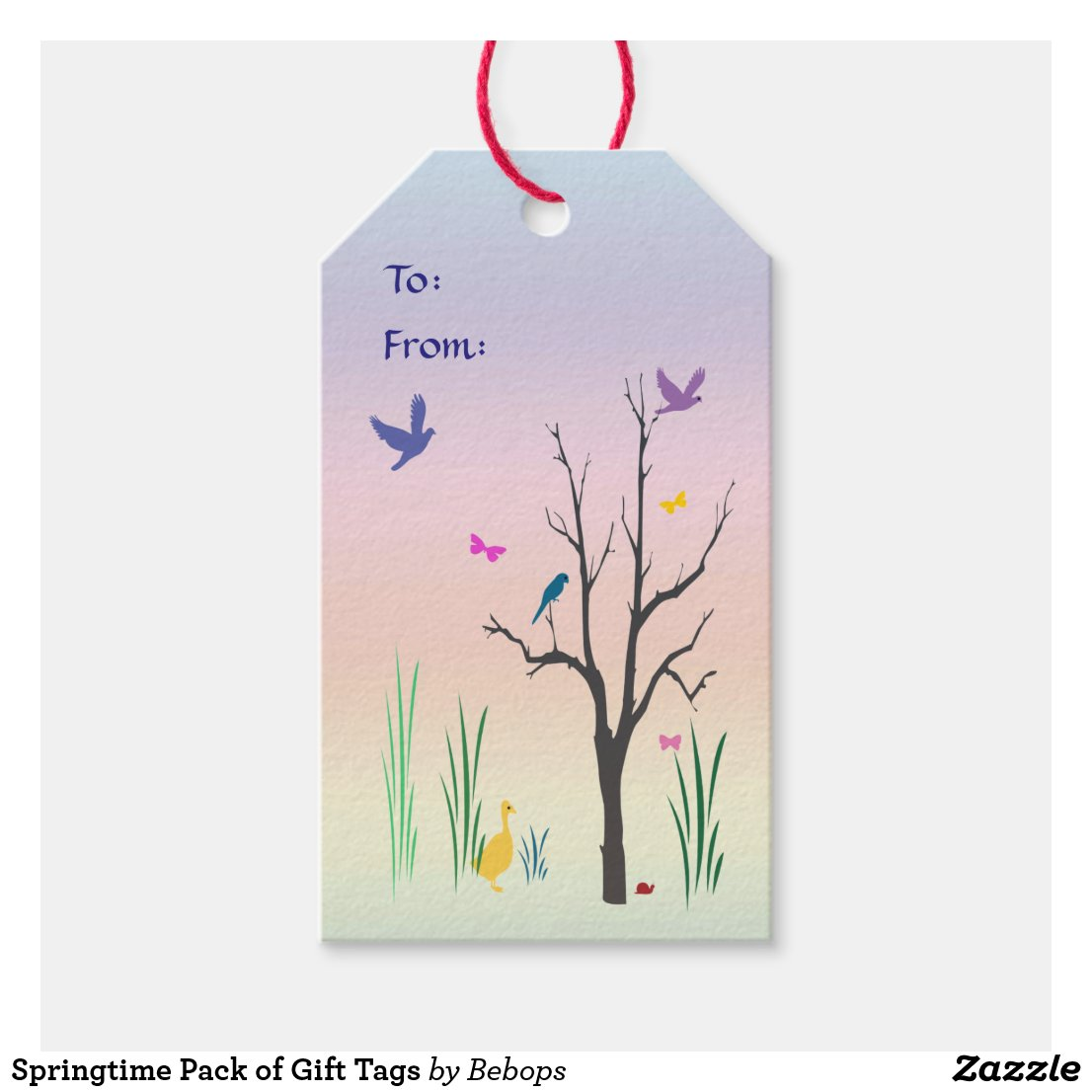 Springtime Pack of Gift Tags