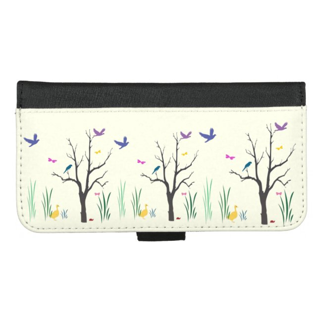 Springtime Pale Yellow iPhone 8/7 Plus Wallet Case