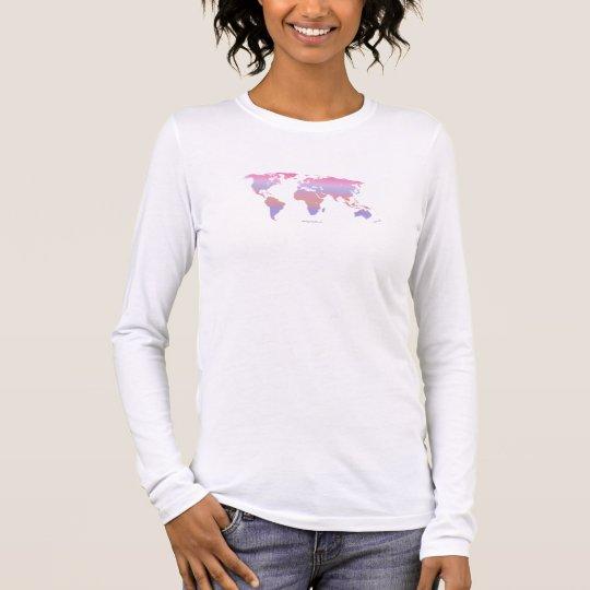Springtime Pastel WORLD MAP Long Sleeve T-Shirt