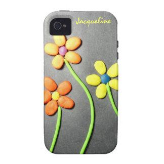 Springtime Playdough Flowers iPhone 4/4S Cases