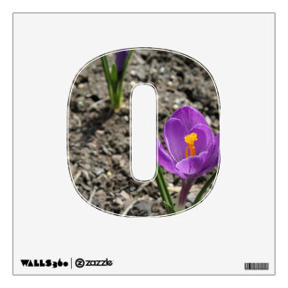 Springtime Purple and Yellow Crocus Flower Photo Wall Sticker