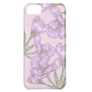 Springtime Purple Crocus Flowers Cover For iPhone 5C