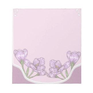 Springtime Purple Crocus Flowers Notepads