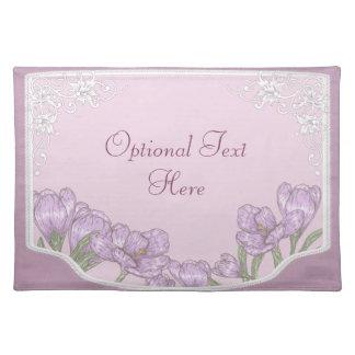 Springtime Purple Crocus Flowers Placemats