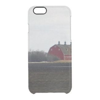 Springtime Red Barn Clear iPhone 6/6S Case