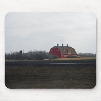 Springtime Red Barn Mouse Pad