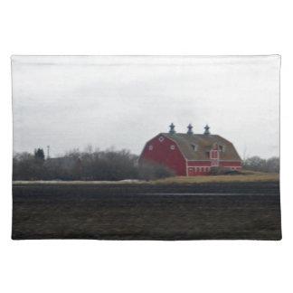 Springtime Red Barn Place Mats