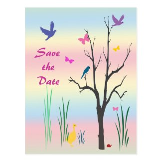 Springtime Save the Date Postcard