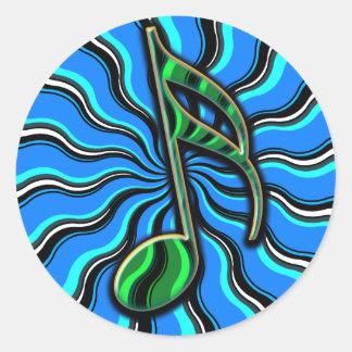Springtime Semiquaver -  16th Note Music Symbol Classic Round Sticker