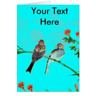 Springtime Sparrows Card