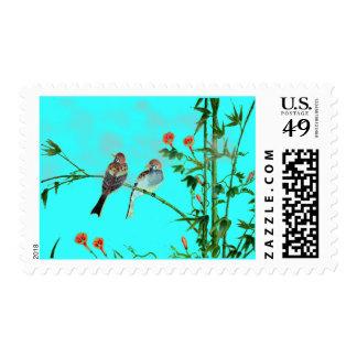 Springtime Sparrows Postage