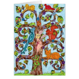 Springtime Tree of Life Greeting Card