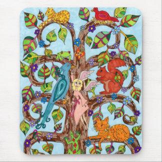 Springtime Tree of Life Mouse Pad