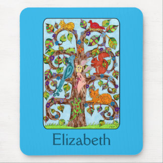 Springtime Tree of Life Personalized Mouse Pad