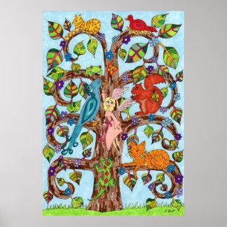 Springtime Tree of Life Posters