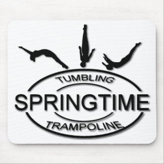 Springtime Tumbling and Trampoline Mouse Pad