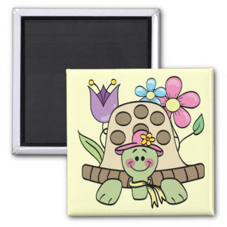 Springtime Turtle Tshirts and Gifts 2 Inch Square Magnet