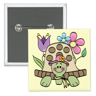 Springtime Turtle Tshirts and Gifts Buttons