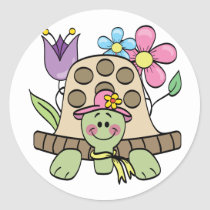 Springtime Turtle Tshirts and Gifts Classic Round Sticker