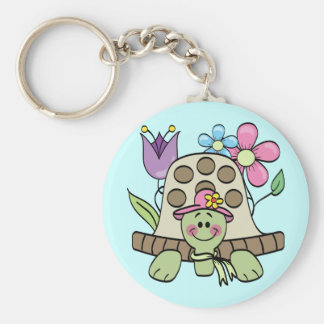 Springtime Turtle Tshirts and Gifts Keychain