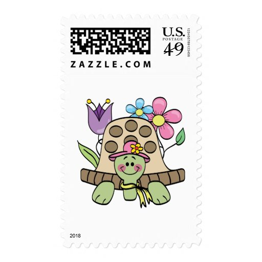 Springtime Turtle Tshirts and Gifts Postage Stamp