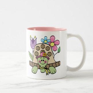 Springtime Turtle Tshirts and Gifts Two-Tone Coffee Mug