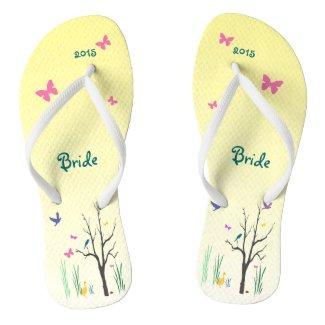 Springtime Wedding Bridal Flip Flops
